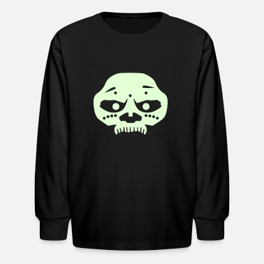 Monkey Crisis On Mars Voodoo Mask (Solid) - Kids' Long Sleeve T-Shirt