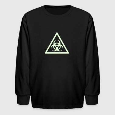 Biohazard Warning - Kids' Long Sleeve T-Shirt