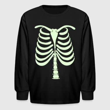 Kids Skeleton Skeleton Bones Glow in the Dark Baby Long Sleeve One Piece - Kids' Long Sleeve T-Shirt