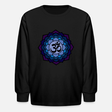Coexist Lotus-om - Kids' Long Sleeve T-Shirt