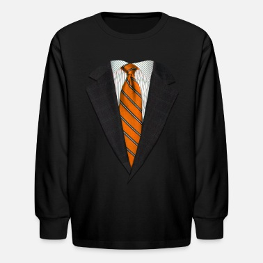 Suit Up Orange Suit and NeckTie - Kids' Longsleeve Shirt