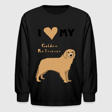 i heart my golden retriever - Kids' Long Sleeve T-Shirt