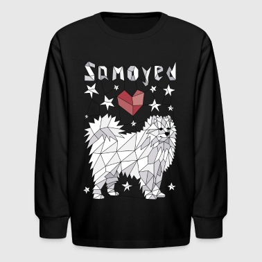 Geometric Samoyed - Kids' Long Sleeve T-Shirt