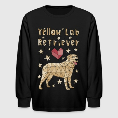 Geometric Yellow Lab Retriever - Kids' Long Sleeve T-Shirt