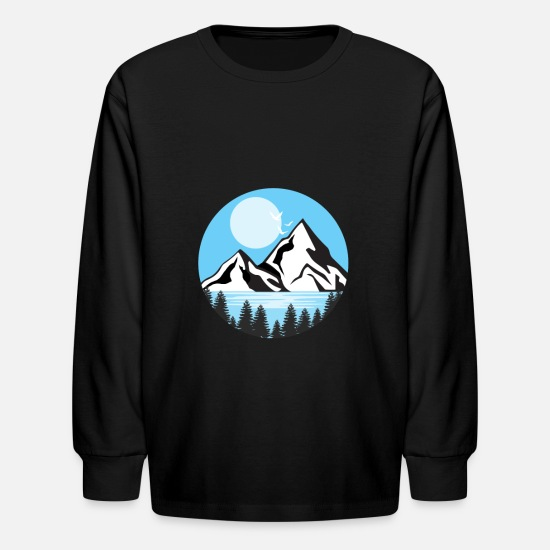 Alps T-Shirts - Alps gift mountains mountains - Kids' Longsleeve Shirt black