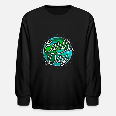 Earth Day Climate Change Environment Motive Gift - Kids' Longsleeve Shirt