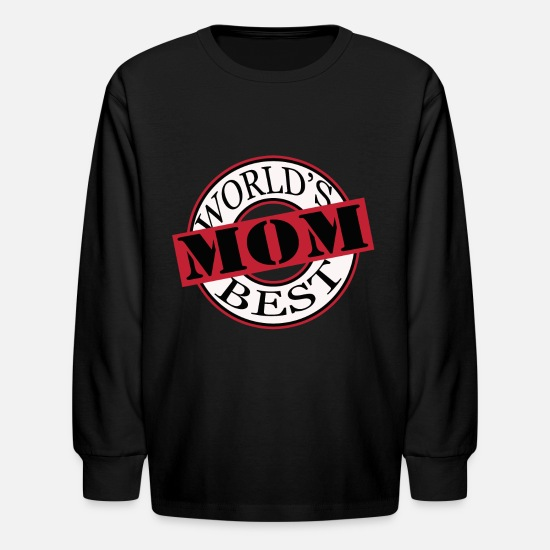Mummy Long-Sleeve Shirts - Mother's Day Day Gift Mami Mother's Mother Gift - Kids' Longsleeve Shirt black