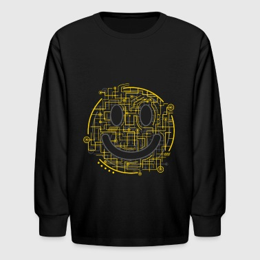 Positively Electric Smiley Face - Kids' Long Sleeve T-Shirt