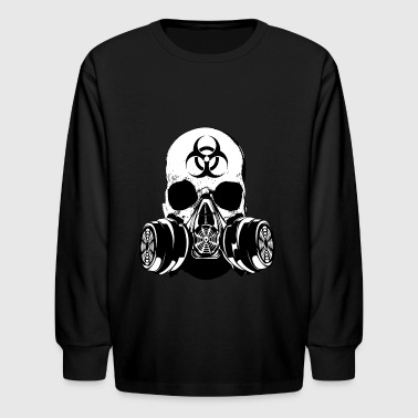 Biohazard Zombie Skull - Kids' Long Sleeve T-Shirt