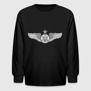 SENIOR ENLISTED WINGS - Kids' Long Sleeve T-Shirt