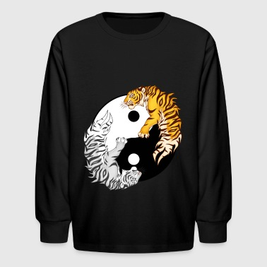 Yin & Yang Tigers - Kids' Long Sleeve T-Shirt