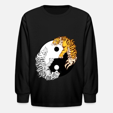 Chinese Yin & Yang Tigers - Kids' Long Sleeve T-Shirt
