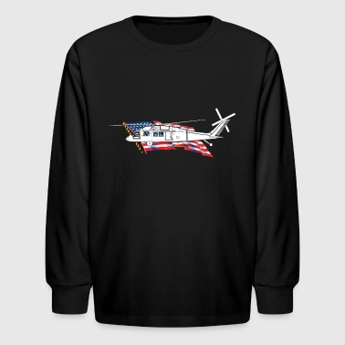 Black Hawk Helicopter - Kids' Long Sleeve T-Shirt