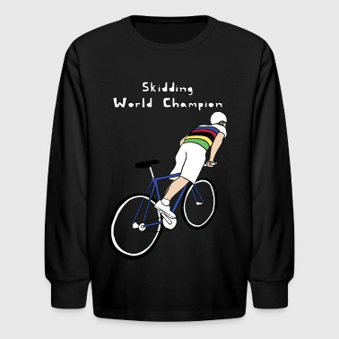 skidding world champion - Kids' Long Sleeve T-Shirt