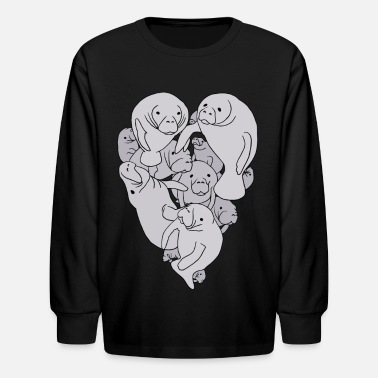 Love manatee heart - Kids' Longsleeve Shirt