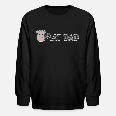 Rat Funny Rat Dad Cute Funny Rats Gift For Rat Lover - Kids' Longsleeve Shirt