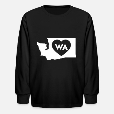 State I Love Washington State - Kids' Longsleeve Shirt