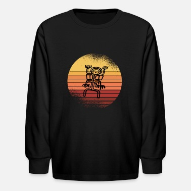 Cave Exploring Art Diving Vintage Retro - Kids' Longsleeve Shirt