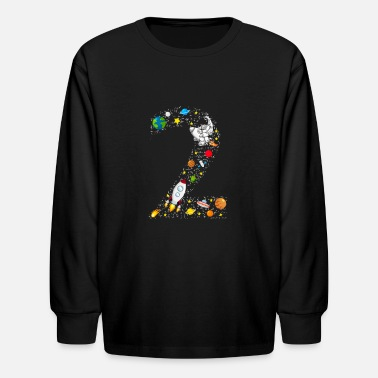 Little Stars 2 Years Old Birthday | Astronaut Space Party - Kids' Longsleeve Shirt