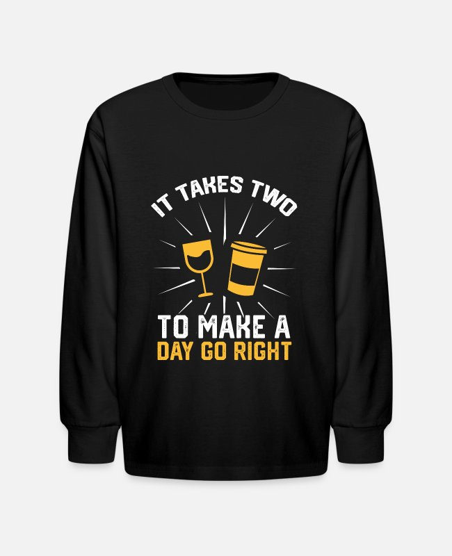 Wine Long-Sleeved Shirts - Wine Festival Bar Drinking Wine Woman Malle - Kids' Longsleeve Shirt black