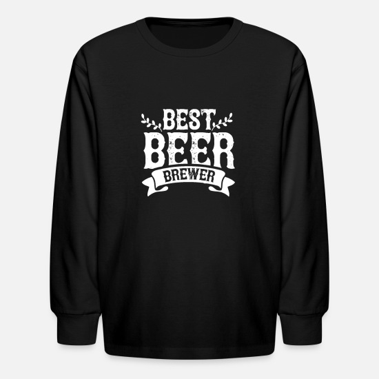 Brewery Long-Sleeve Shirts - Brewer Brew Beers Beer Brewing Job Brewery - Kids' Longsleeve Shirt black