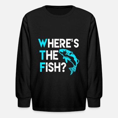 Fishing Rod Fishing Rod Fish Hunting Fisherman Funny Fisher Vi - Kids' Longsleeve Shirt