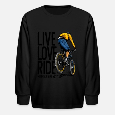 Bmx Bicycle Biker Retro Bike - Kids' Longsleeve Shirt