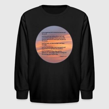 In the Beginning - Kids' Long Sleeve T-Shirt