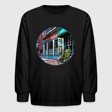 Boston Ma - North End Restaurant - Kids' Long Sleeve T-Shirt