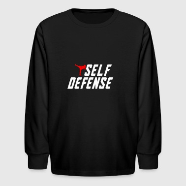 Self Defense - Kids' Long Sleeve T-Shirt