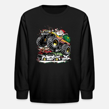 Jam Santa Claus Monster Truck - Kids' Long Sleeve T-Shirt