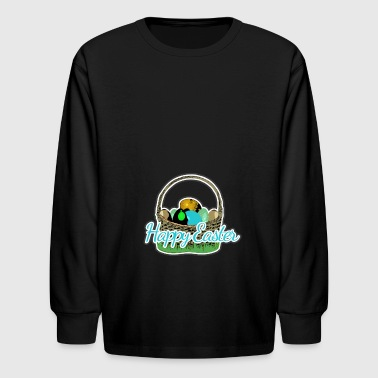 Easter basket of the Easter Bunny - Kids' Long Sleeve T-Shirt
