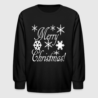 merry_christmas_snowflakes2 - Kids' Long Sleeve T-Shirt