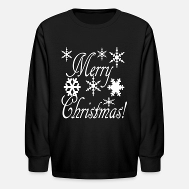 Christmas merry_christmas_snowflakes2 - Kids' Long Sleeve T-Shirt