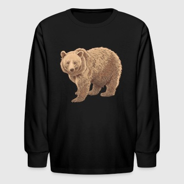 kodiak bear - Kids' Long Sleeve T-Shirt