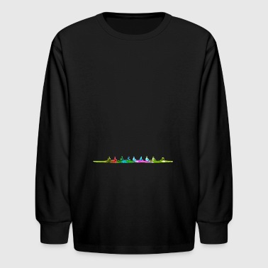 Row Boat Colorful Eighth Rowing Boat - Kids' Long Sleeve T-Shirt