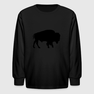 bison native american - Kids' Long Sleeve T-Shirt