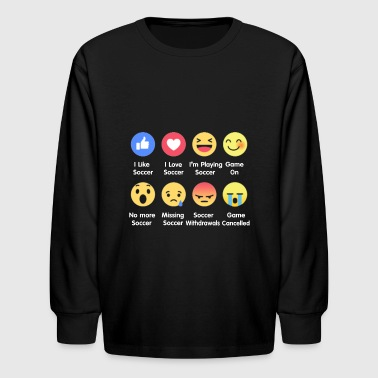 I Love Soccer Emotion Shirt - Kids' Long Sleeve T-Shirt