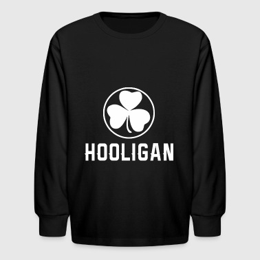 Hooligan Clover Saint Patrick Day - Kids' Long Sleeve T-Shirt