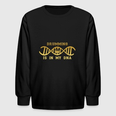 dns dna roots love calling drums trommel drum png - Kids' Long Sleeve T-Shirt