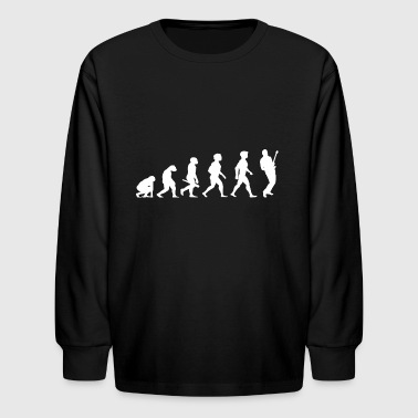 Evolution Electric Guitar Player Accoustic Bass - Kids' Long Sleeve T-Shirt