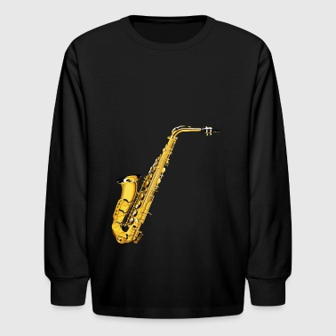 Realistic Saxophone - Kids' Long Sleeve T-Shirt