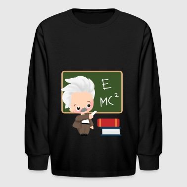 albert einstein school physiker physician - Kids' Long Sleeve T-Shirt