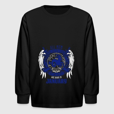 Constellation Kids All Best Men Born in January Zodiac Sign - Kids' Long Sleeve T-Shirt