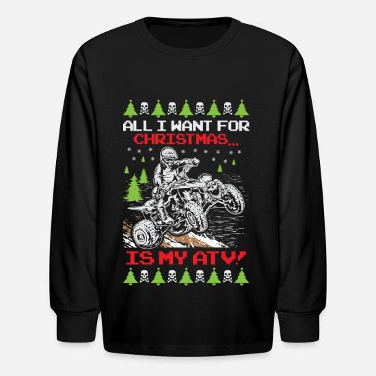 c1d52e2c2 Ugly Christmas ATV Quad Kids' Longsleeve Shirt | Spreadshirt