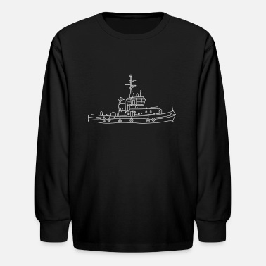 Container Tug or towing boat - Kids' Long Sleeve T-Shirt