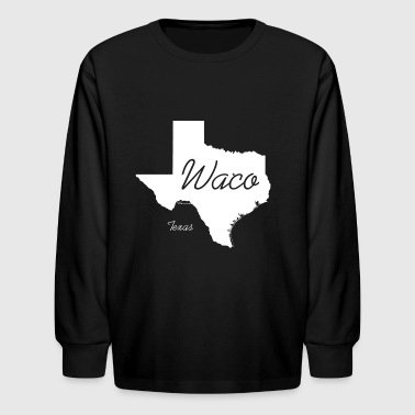 Waco Texas State Shirt - White - Kids' Long Sleeve T-Shirt