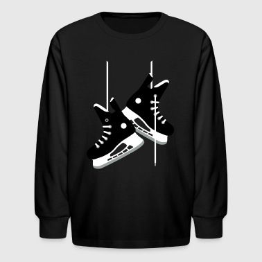 Ice hockey skates - Kids' Long Sleeve T-Shirt