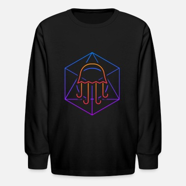 Geometry Psychedelic Sacred Geometry Jellyfish - Kids' Longsleeve Shirt