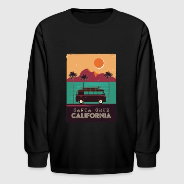 Santa Cruz Santa Cruz Poster Design - Kids' Long Sleeve T-Shirt